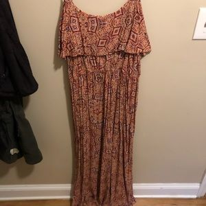 Forever 21+ fun patterned maxi dress